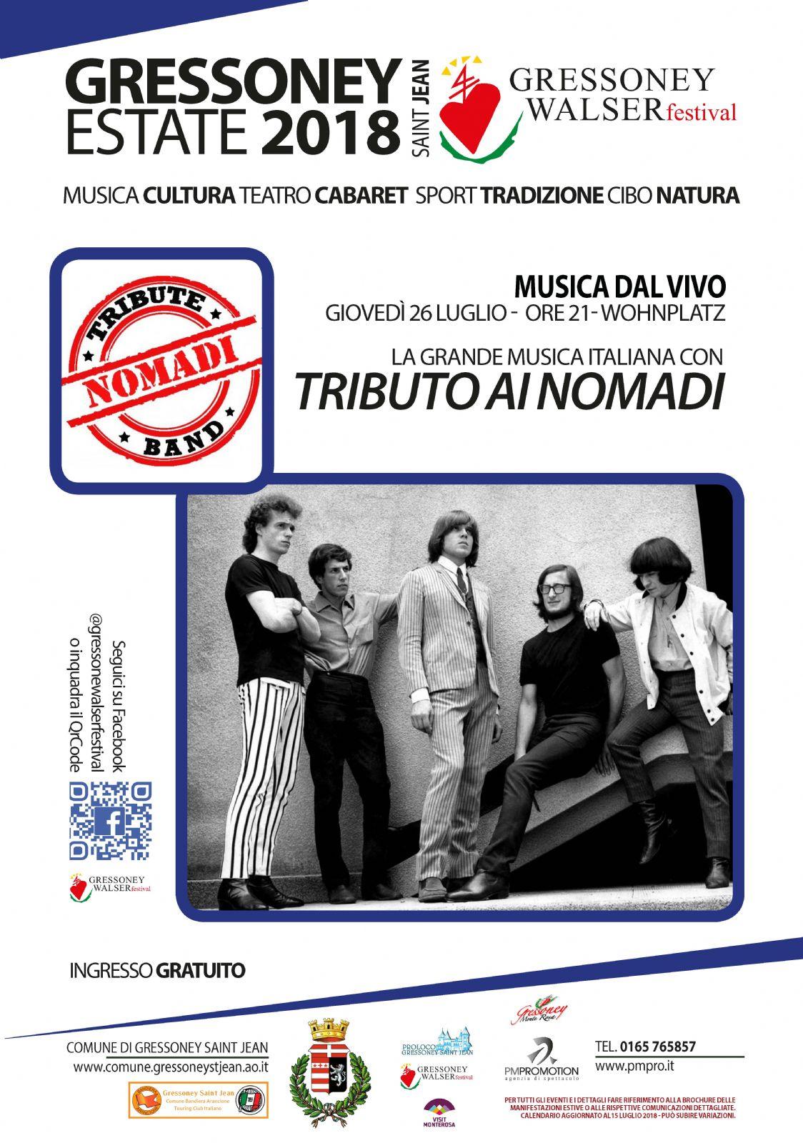 Calendario Concerti Nomadi.Concerto Tributo Ai Nomadi Unite Des Communes Valdotaines